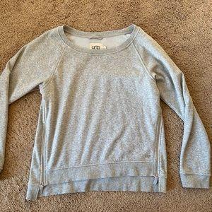 Ugg crew neck sweater with zipper